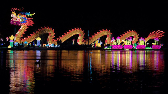 Lung linh lễ hội đèn lồng mừng Tết Mậu Tuất từ LasVegas - ảnh 1