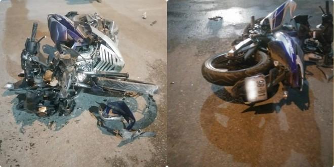 Phóng tốc độ kinh hoàng, xe máy đâm ô tô tạo nên tai nạn thảm khốc ngày giáp Tết - Ảnh 2.