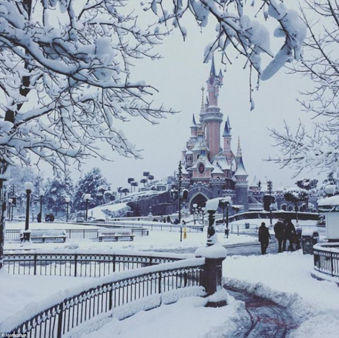 Chỉ sau một đêm, tuyết nhấn chìm Paris vào một màu trắng mộng mơ dày tới gần 18cm khiến nhiều người ngỡ ngàng 3