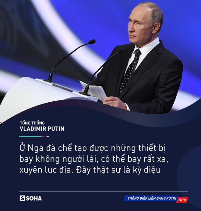 Thông điệp liên bang 2018: Khoe vũ khí tối tân, ông Putin