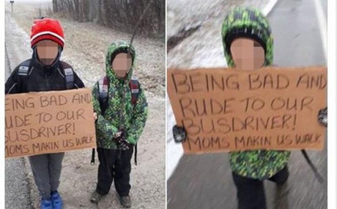 Bà mẹ phạt 2 con đi bộ 7km vì cư xử hỗn gây tranh cãi