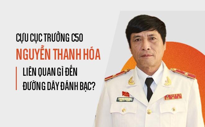 [Infographic] Cựu Cục trưởng C50 Nguyễn Thanh Hóa liên quan gì đến đường dây đánh bạc?