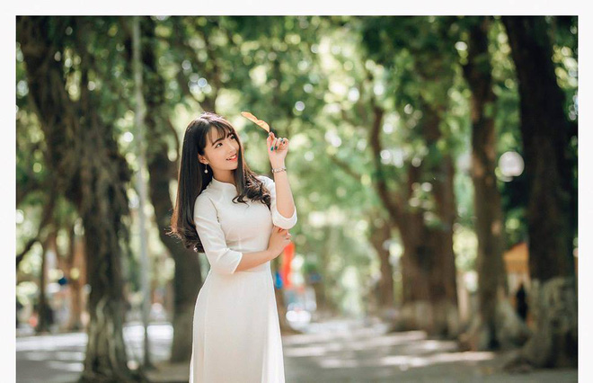Một bức ảnh áo dài và lời giới thiệu khác biệt, cô gái nhận nhiều cảm tình từ dân mạng - Ảnh 3.