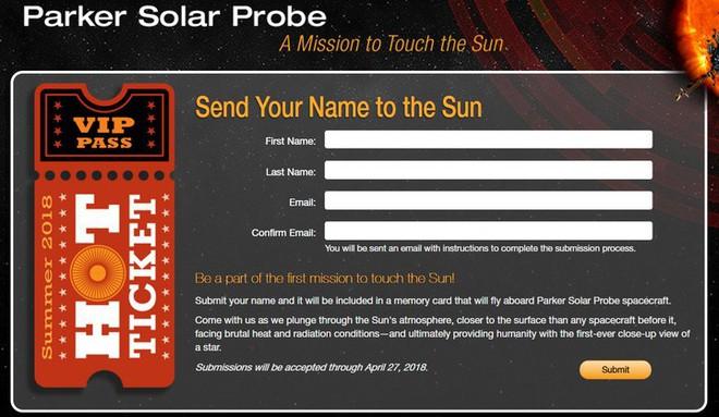 Gửi tên tới NASA và trở thành một phần của chuyến du hành lịch sử tới Mặt trời - Ảnh 3.