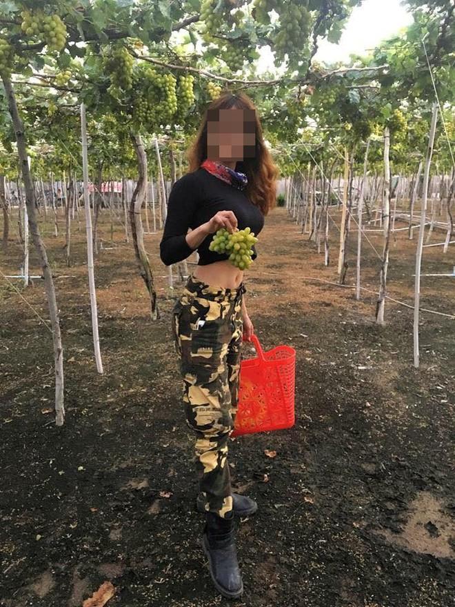 Ngửa cổ ăn nho trên giàn cây, nữ phượt thủ bị bóc phốt ngược sau khi tố chủ vườn Ninh Thuận - ảnh 4