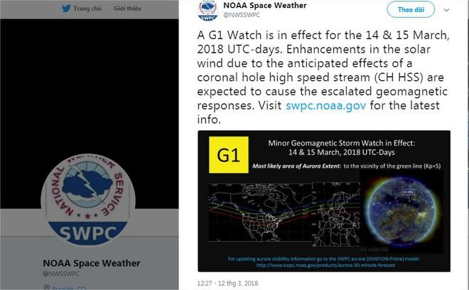 Hôm nay 14/3, bão Mặt Trời sẽ đến Trái Đất, và đây là cảnh báo của NOAA - Ảnh 1.