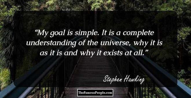 Tôi chẳng sợ cái chết, nhưng tôi cũng không nóng lòng đón nhận nó - Stephen Hawking - ảnh 15