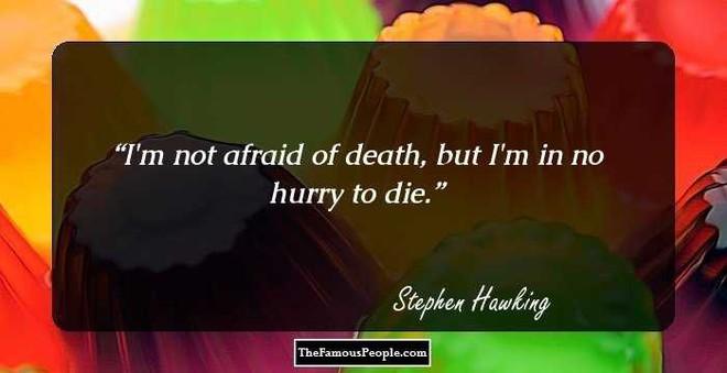 Tôi chẳng sợ cái chết, nhưng tôi cũng không nóng lòng đón nhận nó - Stephen Hawking - ảnh 1