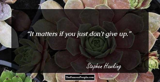 Tôi chẳng sợ cái chết, nhưng tôi cũng không nóng lòng đón nhận nó - Stephen Hawking - ảnh 2