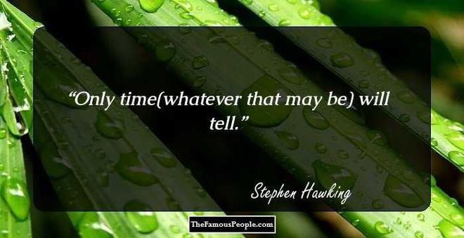 Tôi chẳng sợ cái chết, nhưng tôi cũng không nóng lòng đón nhận nó - Stephen Hawking - ảnh 13