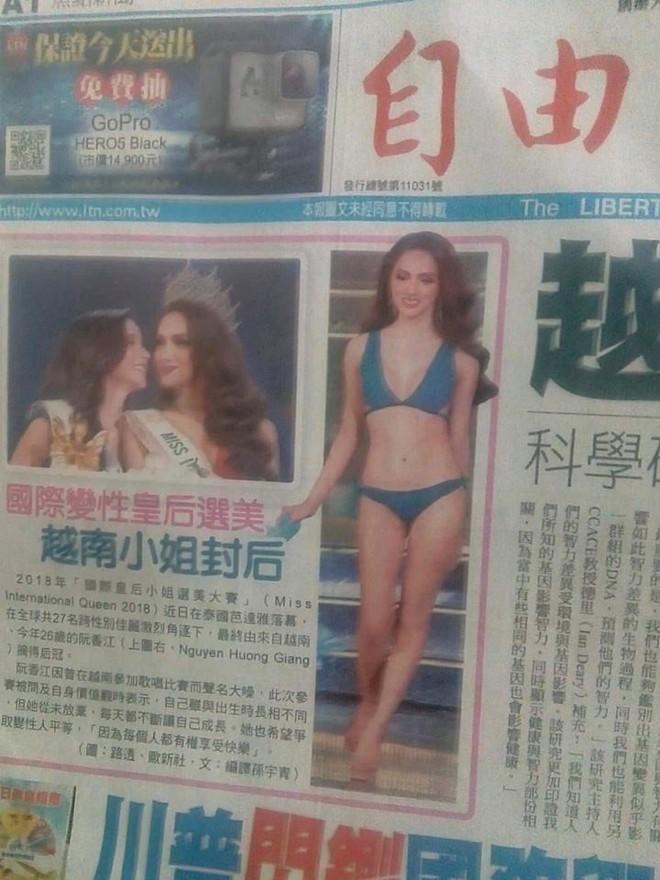 Sau loạt báo Quốc tế, Tân Hoa hậu Hương Giang tiếp tục xuất hiện nổi bật trên báo Đài Loan - Ảnh 1.