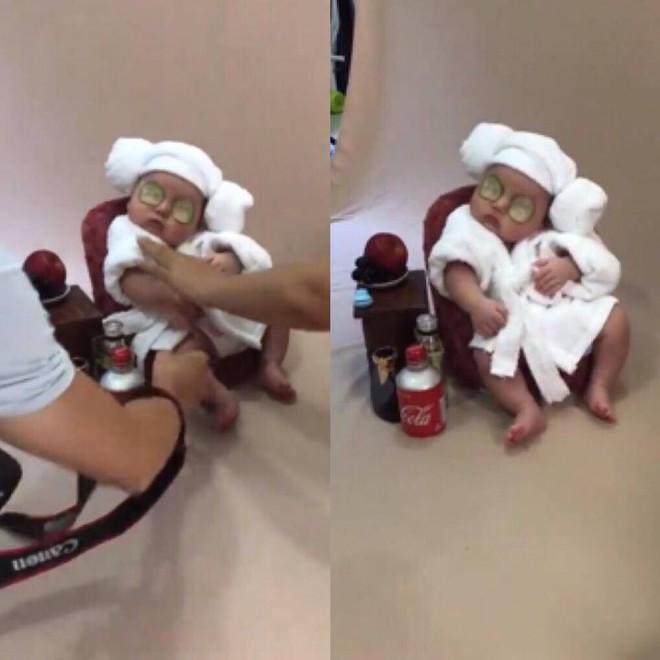 Em bé sơ sinh chụp ảnh phong cách 'spa hoàng gia' đã giật giải nhóc tì ngầu nhất MXH hôm nay - ảnh 1