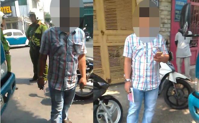 """Tài xế ghi hình cảnh sát trật tự bị """"người lạ"""" đập điện thoại"""