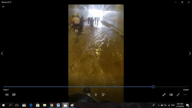 Hầm chui hơn 100 tỉ ở Đà Nẵng vừa khánh thành ngập nước dù trời không mưa - Ảnh 1.