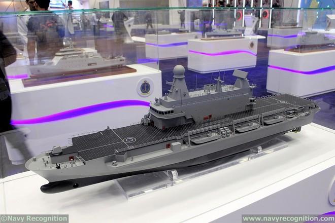 Hết khoe máy bay chiến đấu, tên lửa khủng, Qatar gây bất ngờ với chiến hạm xịn hết cỡ - Ảnh 1.
