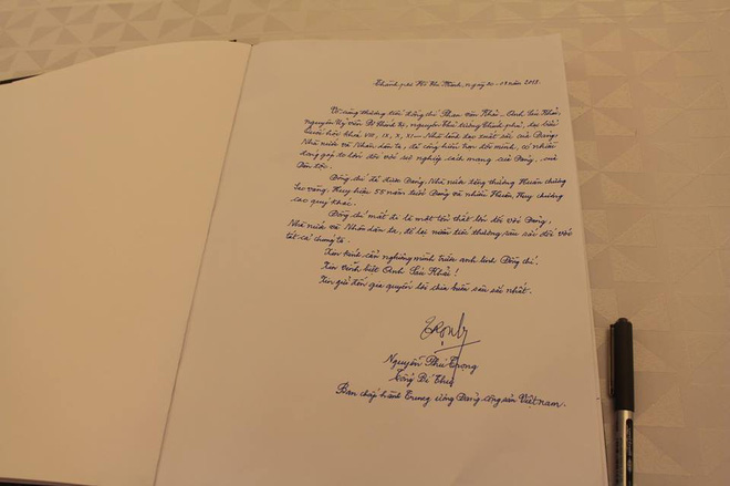 Những lời tiếc thương cố Thủ tướng Phan Văn Khải của lãnh đạo Đảng, Nhà nước trong sổ tang - Ảnh 2.