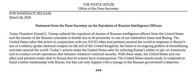 NÓNG: Hưởng ứng Anh, ông Trump ra lệnh trục xuất 60 nhà ngoại giao Nga, 5 nước châu Âu cùng ra tay - Ảnh 1.