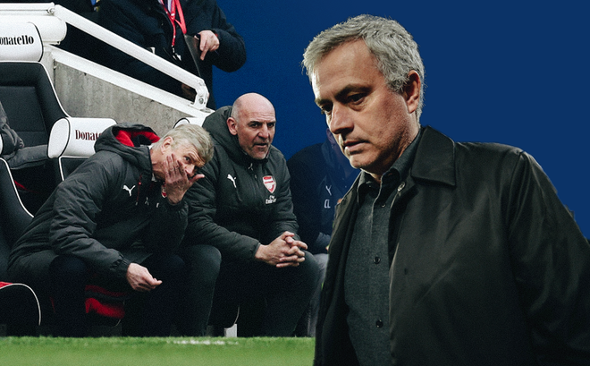 Đừng cười Wenger vội, bởi Mourinho cũng nào có hơn gì