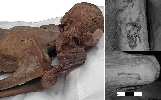 Phát hiện hình xăm trên hai xác ướp Ai Cập khoảng 5.200 năm tuổi