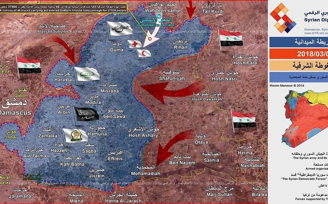 Quân đội Syria đột kích lá chắn thép của phiến quân tại sào huyệt Đông Ghouta