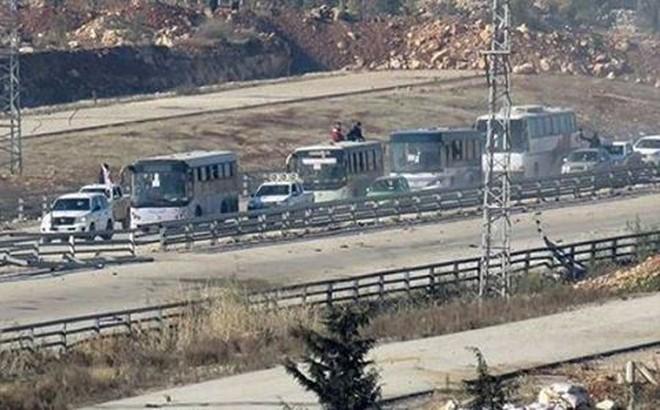 Phiến quân tấn công đoàn xe di tản thường dân khỏi Đông Ghouta
