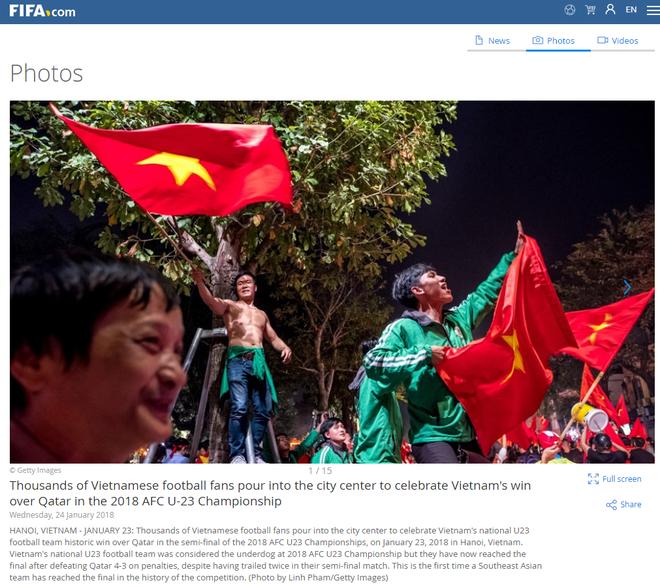 FIFA, AFC, báo châu Á đồng loạt đăng tin Việt Nam ăn mừng thâu đêm suốt sáng - Ảnh 2.