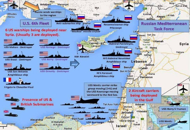 NÓNG: Mỹ điều tàu sân bay, chuẩn bị cùng Anh, Pháp đánh Syria, Nga báo động chiến đấu cao - Ảnh 6.