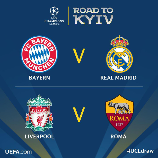 Bốc thăm bán kết Champions League: Bayern Munich đối đầu Real Madrid! - Ảnh 3.