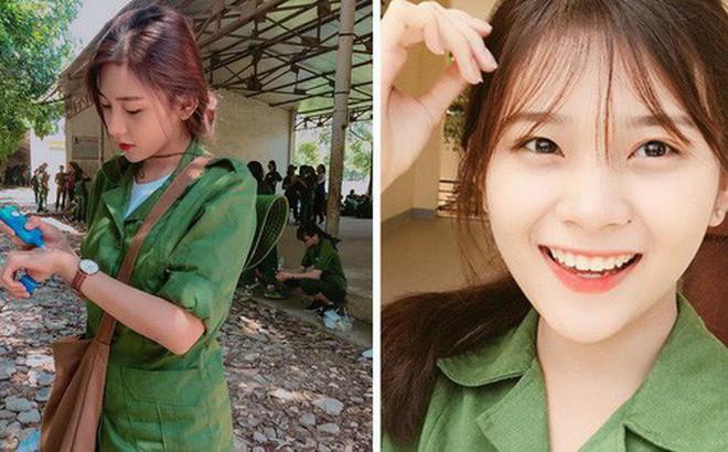 """Nữ sinh ĐH Kinh Tế được mệnh danh là """"hot girl quân sự"""" vì thoa kem chống nắng thôi cũng thần thái"""