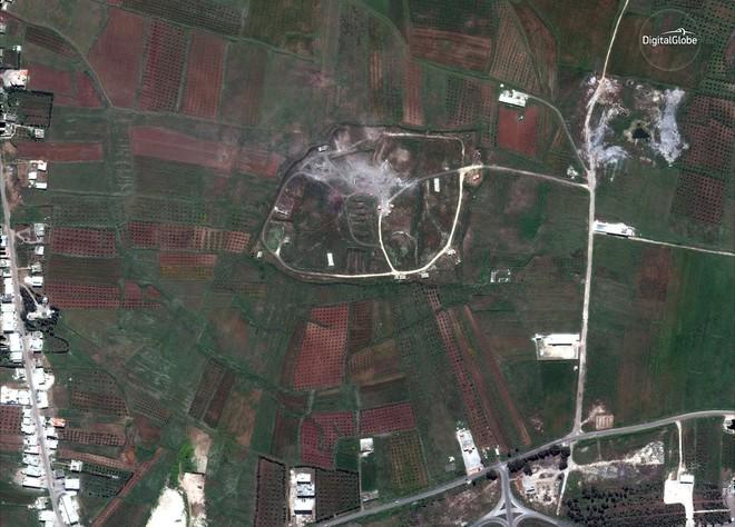 Hình ảnh vệ tinh mới nhất chứng minh Syria đã thiệt hại nặng nề sau vụ tấn công ngày 14/4 - Ảnh 5.