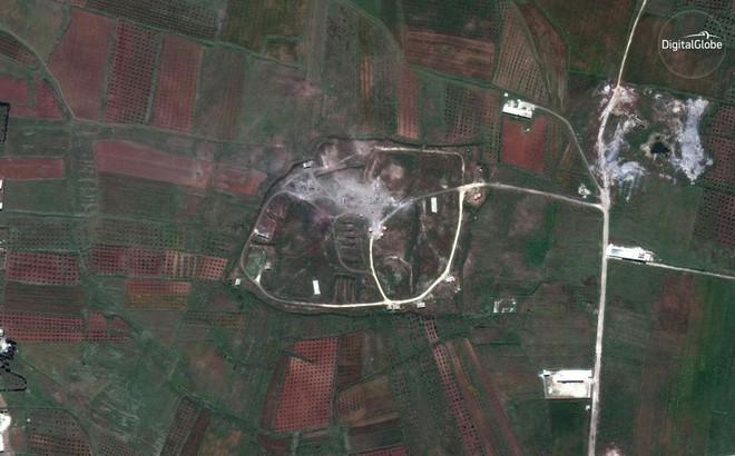 Hình ảnh vệ tinh mới nhất chứng minh Syria đã thiệt hại nặng nề sau vụ tấn công ngày 14/4