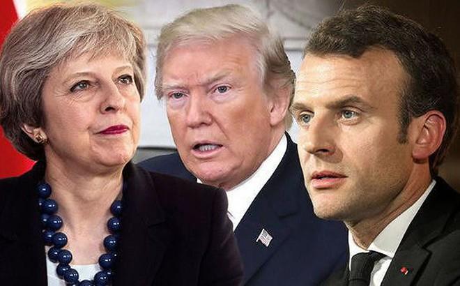 Lãnh đạo Mỹ, Anh, Pháp điện đàm sau cuộc tấn công Syria