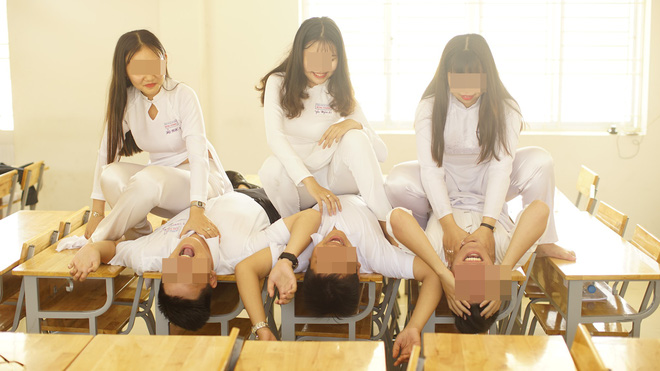Chụp ảnh khó hiểu trong trang phục áo dài, nhóm học sinh bị dân mạng chỉ trích mạnh mẽ - ảnh 5