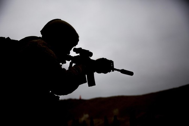 Ảnh: Thủy quân lục chiến Mỹ huấn luyện sử dụng thành thạo súng đạn - ảnh 6