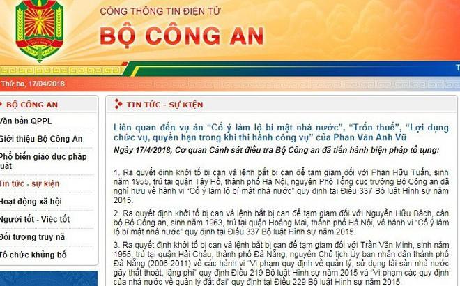 Cựu Trung tướng, Phó Tổng Cục trưởng Tổng Cục Tình báo Phan Hữu Tuấn bị bắt