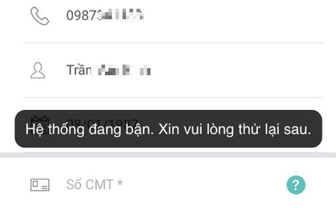 App treo cứng, khách hàng Viettel hoang mang vì không thể đăng ký thông tin thuê bao online