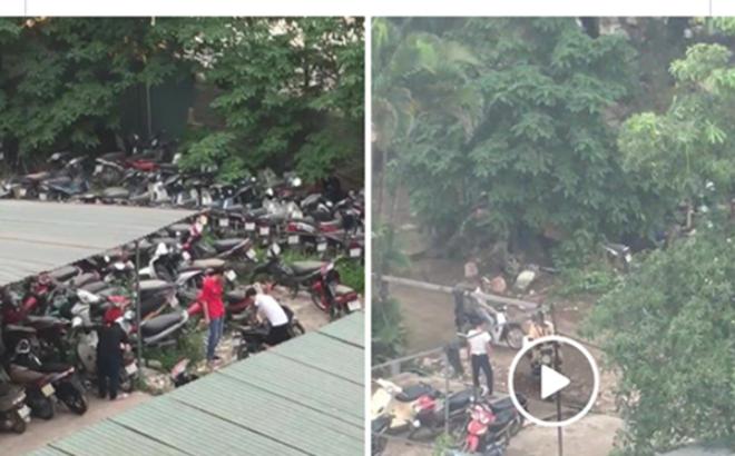 CSGT Hà Nội lên tiếng về đoạn clip nghi CSGT cấu kết tháo đồ xe bị tạm giữ 1