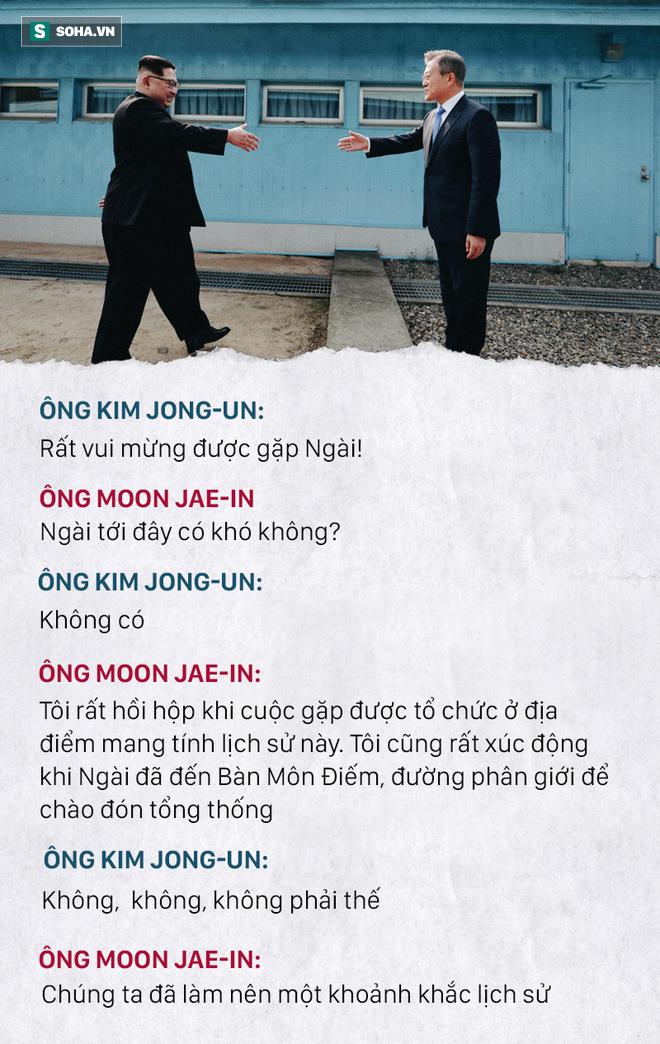Những đoạn đối thoại thú vị giữa 2 ông Kim Jong-un và Moon Jae-in ở thượng đỉnh liên Triều - Ảnh 1.