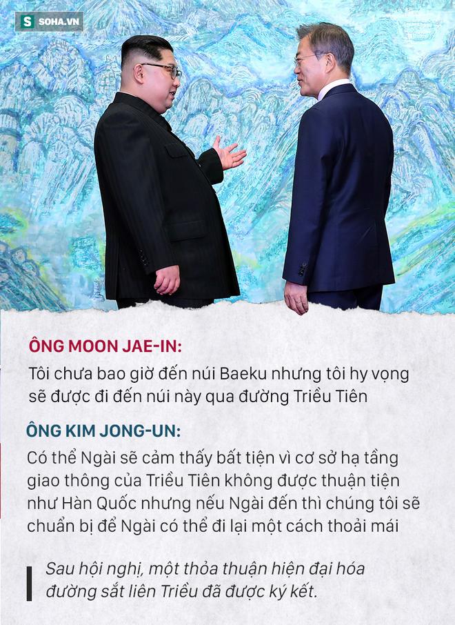 Những đoạn đối thoại thú vị giữa 2 ông Kim Jong-un và Moon Jae-in ở thượng đỉnh liên Triều - Ảnh 6.