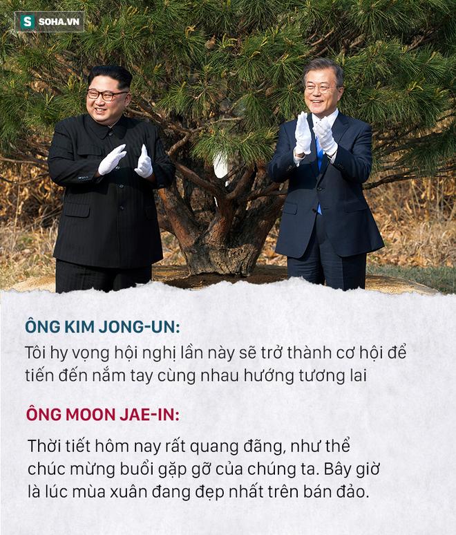 Những đoạn đối thoại thú vị giữa 2 ông Kim Jong-un và Moon Jae-in ở thượng đỉnh liên Triều - Ảnh 4.