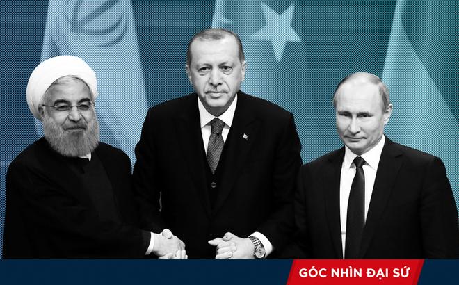 """Tạm gác bất đồng, Nga-Thổ-Iran """"đoàn kết"""" chống chính sách thù địch của Mỹ và phương Tây"""