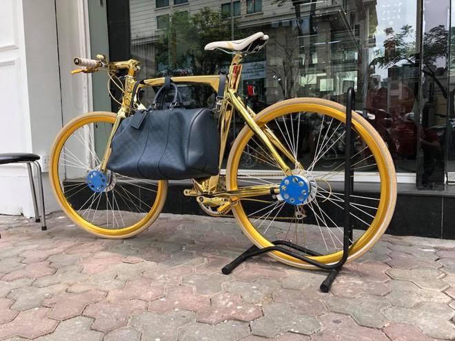 Cận cảnh xe đạp mạ vàng phiên bản giới hạn cực độc, giá 1,2 tỷ đồng tại Hà Nội - Ảnh 2.