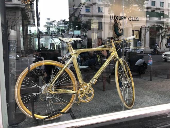 Cận cảnh xe đạp mạ vàng phiên bản giới hạn cực độc, giá 1,2 tỷ đồng tại Hà Nội - Ảnh 7.