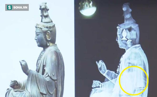 """Phát hiện """"kho báu"""" trong tượng Phật cổ ở Nhật Bản"""