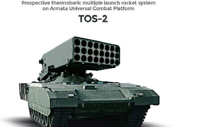 """Pháo phản lực nhiệt áp trên khung gầm Armata: """"Hỏa thần"""" mới của Nga đã lộ diện?"""