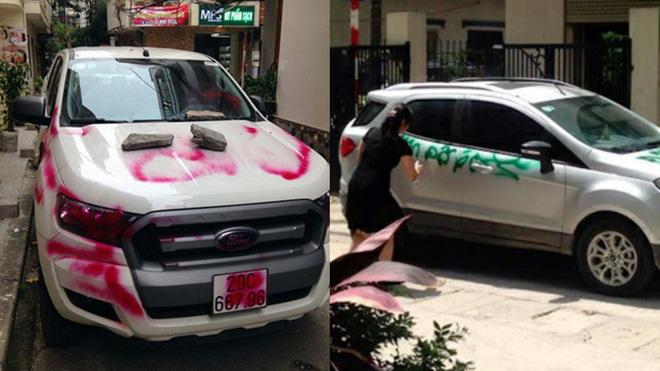 Vừa chạy đi 5 phút để gọi bạn gái, quay về đã thấy ô tô bị tặng chai mắm tôm pha sơn đen - Ảnh 2.