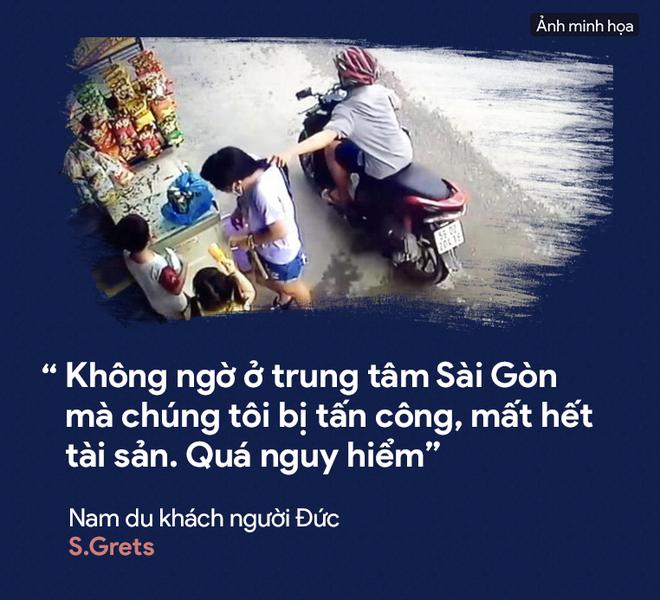[PHOTO STORY] Dân thường, người bị nạn, du khách thảng thốt về nạn cướp giật ở Sài Gòn - Ảnh 1.