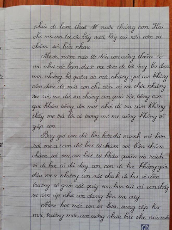 Ngày 1/6, bức thư 700 chữ gửi mẹ của cô bé lớp 5 khiến người đọc nghẹn ngào - Ảnh 3.
