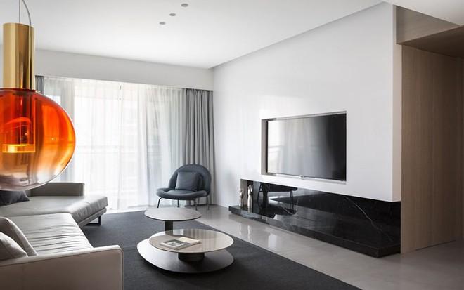 Căn hộ màu trắng thiết kế đơn giản và tinh tế - Ảnh 2.