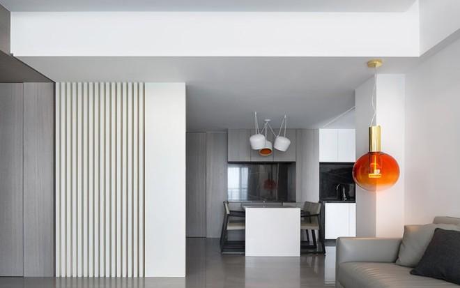 Căn hộ màu trắng thiết kế đơn giản và tinh tế - Ảnh 4.